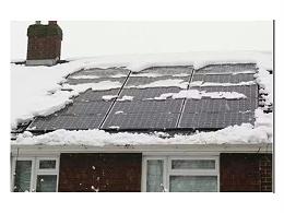 冬天太阳能电池板工作吗?