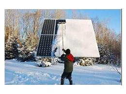 其实太阳能电池板在冬天发电更高