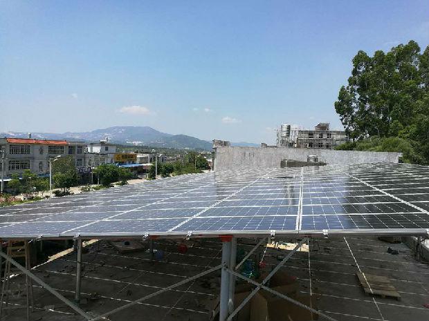 中科晶能优质光伏设备,为广州服装厂实现太阳能发电