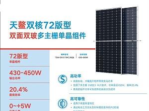 天合光能太阳能板至尊双面DEG18MC.20(II)