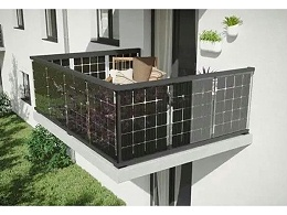 阳台上装太阳能板,好看又实用